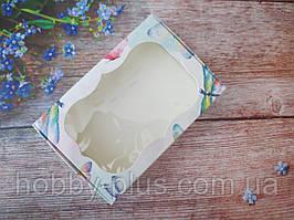 Коробка для изделий ручной работы с окном, 100х150х30 мм, цвет белый (бабочки), 1шт