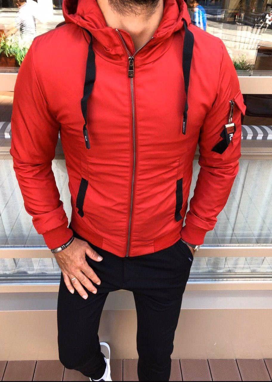 Чоловіча куртка червона Skor 4