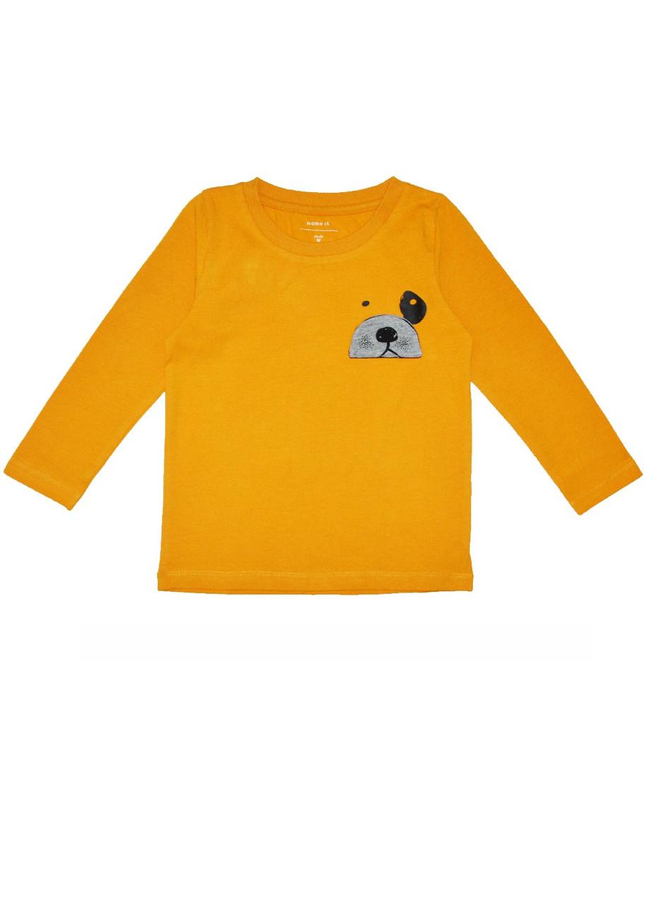 Реглан для детей медведь 92см. жёлтый
