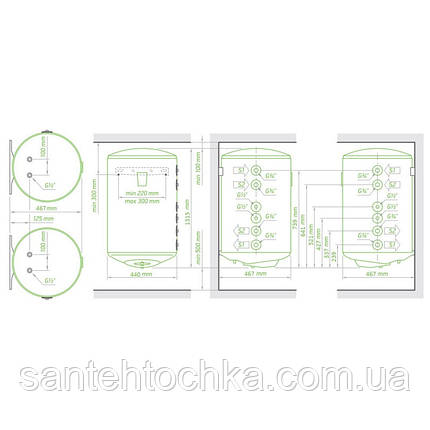 Комбинированный водонагреватель Tesy Bilight 150 л, 2,0 кВт (GCV74S1504420B11TSRСP) 302765, фото 2