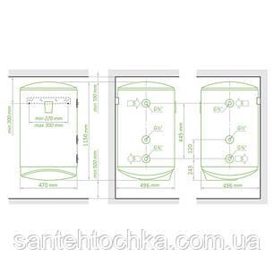 Комбинированный водонагреватель Tesy Modeco 120 л, сухой ТЭН 1,2 кВт (GCV9S1204724DC21TS2RCP) 303562, фото 2