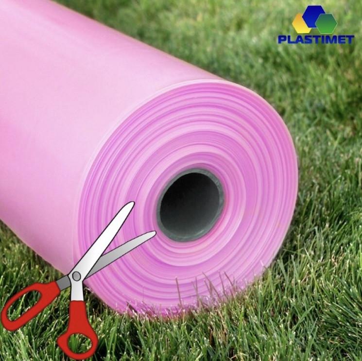 Плівка теплична 150мк, 6-сез 10 м. ширина НАВІДРІЗ рожева