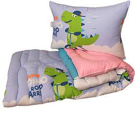 Дитяче ковдру лебединий пух Крокодильчик 1.5-сп. + 1 подушка 50х70