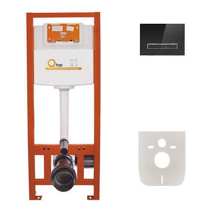 Набор инсталляция 4 в 1 Qtap Nest ST с линейной панелью смыва QT0133M425V1107GB, фото 2