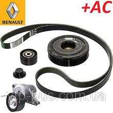 Комплект ремня генератора на Renault Trafic 2.0dCi +AC (2006-2014) Renault (оригинал) 7701477344