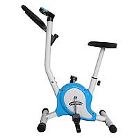 Велотренажер механический для дома домашний голубой King Sport Bike