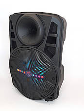 Boombox ALP-803 10W, колонка-валіза з світломузикою і мікрофоном, чорна, фото 2