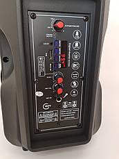 Boombox ALP-803 10W, колонка-валіза з світломузикою і мікрофоном, чорна, фото 3