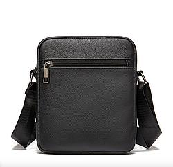 Мужская сумка через плечо из натуральной кожи Marrant - черный