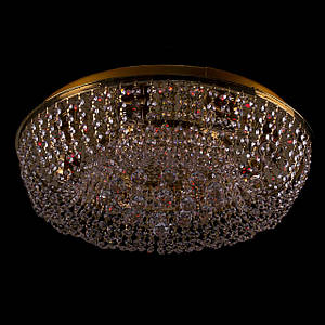 Хрустальная люстра с LED подсветкой на пульте управления на 8 лампочек (золото). P5-E0966/8