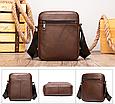 Мужская сумка через плечо из натуральной кожи Marrant - коричневый, фото 2