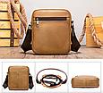 Мужская сумка через плечо из натуральной кожи Marrant - светло коричневый, фото 2