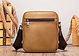 Мужская сумка через плечо из натуральной кожи Marrant - светло коричневый, фото 3