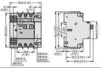 Автоматичний вимикач захисту двигуна SM1P 0025 (0,16-0,25 А), фото 2