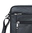 Мужская сумка через плечо из натуральной кожи  Marrant - черный, фото 4