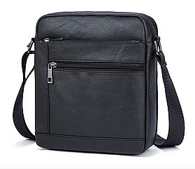 Чоловіча сумка через плече з натуральної шкіри Marrant - чорний