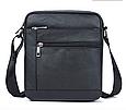 Мужская сумка через плечо из натуральной кожи  Marrant - черный, фото 6