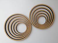 Деревянная заготовка, основа - кольцо для ловца снов, мобиля, макраме. Диаметр 23 см, толщина 8 мм