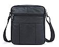 Мужская сумка через плечо из натуральной кожи  Marrant - черный, фото 2
