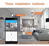 Видеокамера с датчиком движения Full HD радионяня поворотная Wi-Fi IP-камера видеонаблюдения видеоняня, фото 4