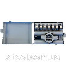 Набір плашок D-COMBO круглих ручних М3-М12 (HSS) 8 предметів THORVIK MDS8 (Китай)