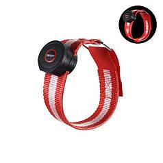 Світлодіодний LED браслет безпеки Lesko HY-0907 Red для бігу і велоспорту