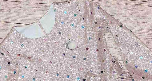 Дитяче сукня прикрашена паєтками розміри 110-134, фото 2