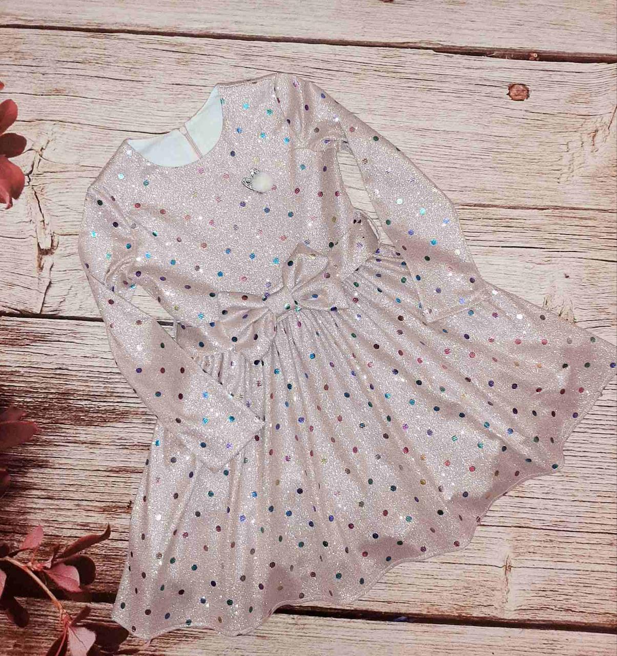 Дитяче сукня прикрашена паєтками розміри 110-134