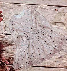 Детское платье украшено паетками  размеры 110-134