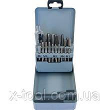 Набір мітчиків T-COMBO трехпроходных ручних універсальних М3-М12 (HSS-G) 22 предмета THORVIK MTS22 (Китай)