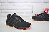 Кросівки чоловічі в стилі New Balance 860 чорні з помаранчевим сітка, фото 3