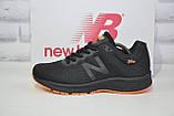 Кросівки чоловічі в стилі New Balance 860 чорні з помаранчевим сітка, фото 2