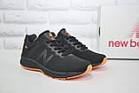 Кросівки чоловічі в стилі New Balance 860 чорні з помаранчевим сітка, фото 4