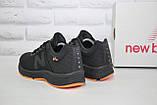 Кросівки чоловічі в стилі New Balance 860 чорні з помаранчевим сітка, фото 5