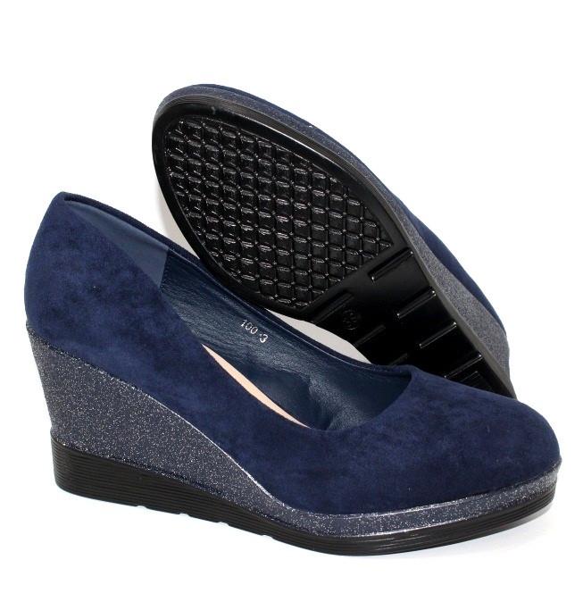 Замшевые женские туфли с тракторной подошвой, туфли на широком каблуке