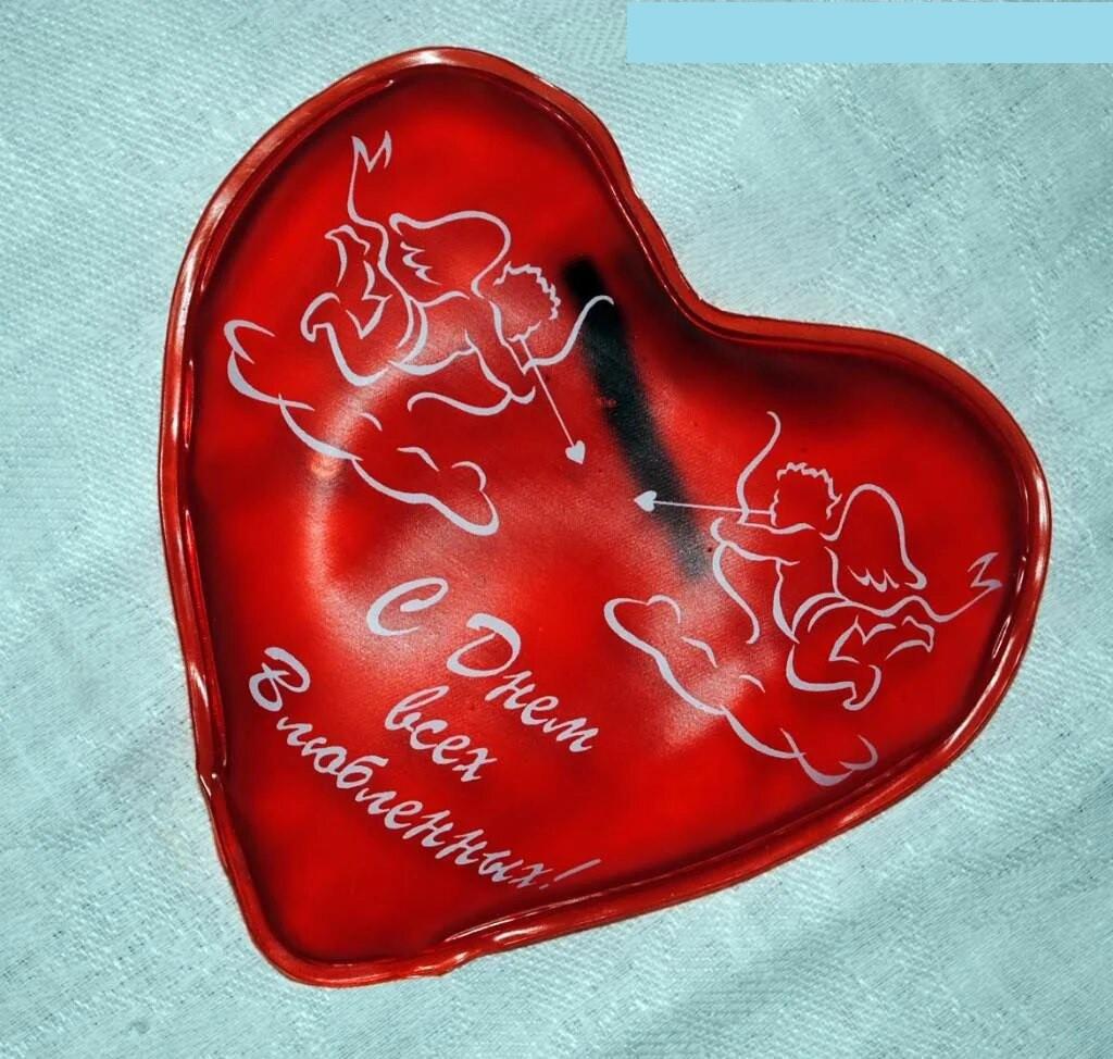 Солевая грелка Сердце - с Днем всех влюбленных