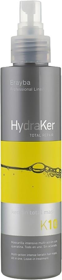 Маска для волосся кератин + арганова олія 10 в 1 Erayba HydraKer K10 Keratin Total Mask