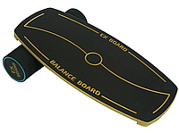 Балансборд Ex-board Black Circle черный валик 13 см в резине балансировочная доска, платформа, тренажер