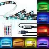 Светодиодная лента 5V 5050 RGB 2м USB, фото 4