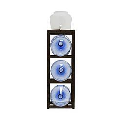 Подставка деревянная темная Сlover под 3 +1 бутыли (00000001371)