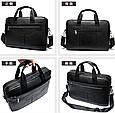 Мужская кожаная сумка портфель для документов Marrant - черный, фото 2