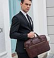 Мужская кожаная сумка портфель для документов Marrant - черный, фото 8