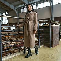 Модное демисезонное пальто макси с разрезами Торонто