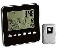 Цифровая метеостанция для дома с беспроводным датчиком TFA Quadro Black