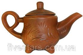 Чайник глиняный 1,5 л декор