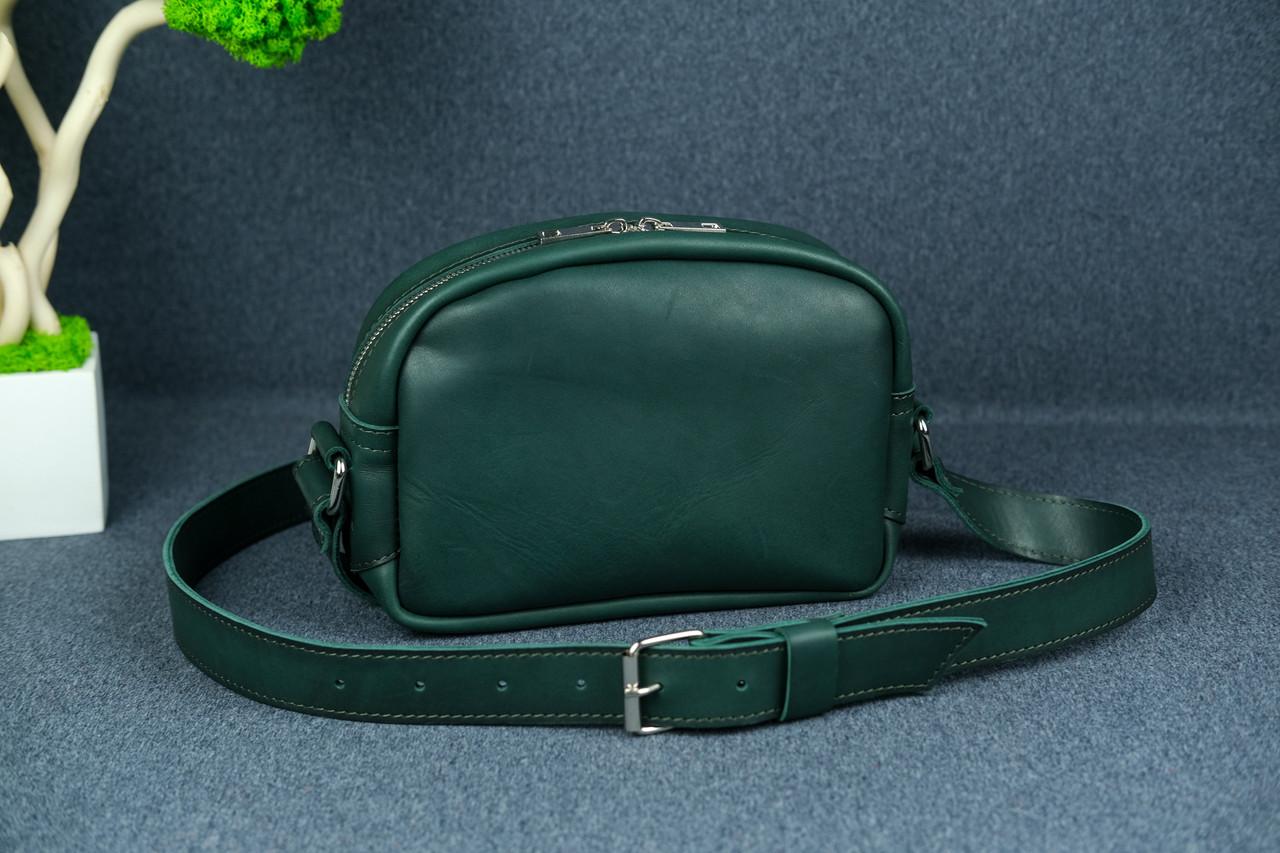 Сумка жіноча. Шкіряна сумочка Віола Шкіра Італійський краст колір Зелений