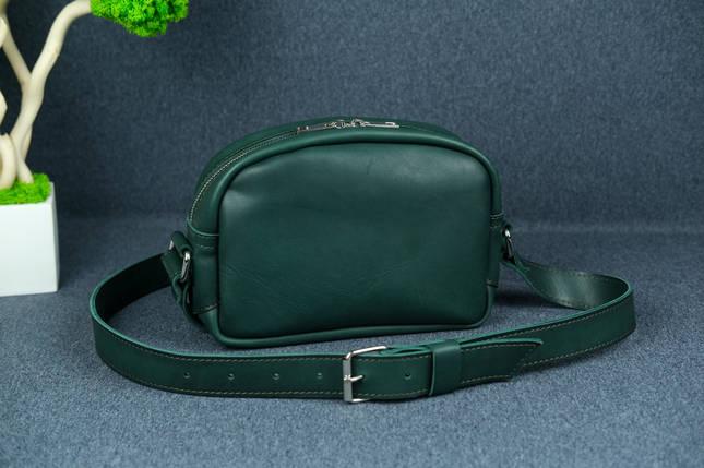 Сумка жіноча. Шкіряна сумочка Віола Шкіра Італійський краст колір Зелений, фото 2