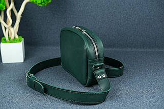 Сумка жіноча. Шкіряна сумочка Віола Шкіра Італійський краст колір Зелений, фото 3
