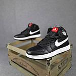 Мужские демисезонные кроссовки Nike Air Jordan (черные на белой) повседневная обувь 10396, фото 2