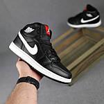 Мужские демисезонные кроссовки Nike Air Jordan (черные на белой) повседневная обувь 10396, фото 4